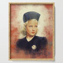 Mary Carlisle, Vintage Actress Serving Tray