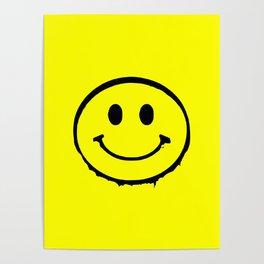 smiley face rave music logo Poster
