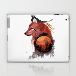 Tetrad the Bloodmoon Fox Laptop & iPad Skin