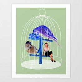 Birdie // Caged Art Print