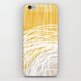 Yellow Doodle Floral by Friztin iPhone Skin