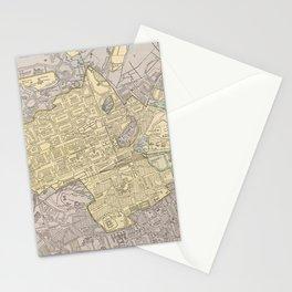 Vintage Map of Edinburgh Scotland (1901) Stationery Cards