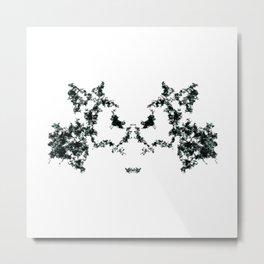 Rorschach inkblot #1 Metal Print