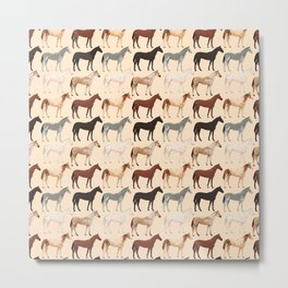 Horses pattern Metal Print