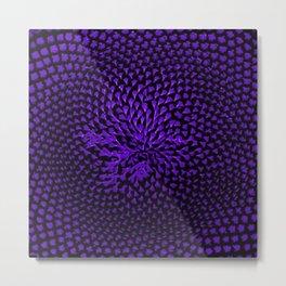 Purple Sunflower Portrait by Jeanpaul Ferro Metal Print