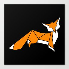 Origami Little Fox Canvas Print