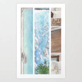 Window to Window Art Print