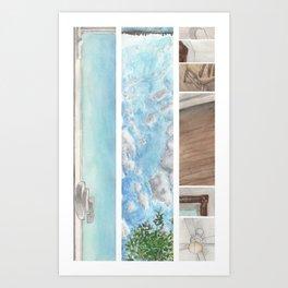 Window to Window Art Print