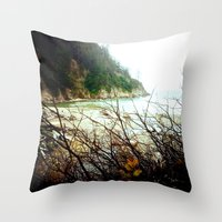 oregon Throw Pillows featuring Oregon by Danielle DePalma