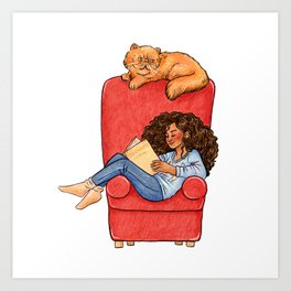 Reading fictional characters: Hermione Art Print