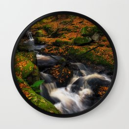 Cloghleagh River in Wicklow Mountains - Ireland (RR249) Wall Clock