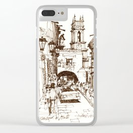 Street life, San Miguel de Allende Clear iPhone Case