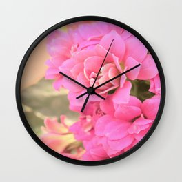 peach colored flower Wall Clock