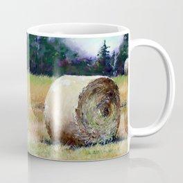 Field Full of Hay Bales Coffee Mug