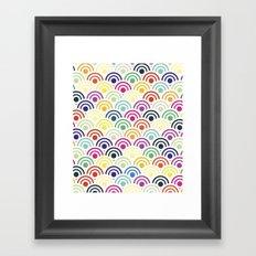 Colorful Circles II Framed Art Print