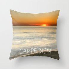 CARPE DIEM at summer Throw Pillow