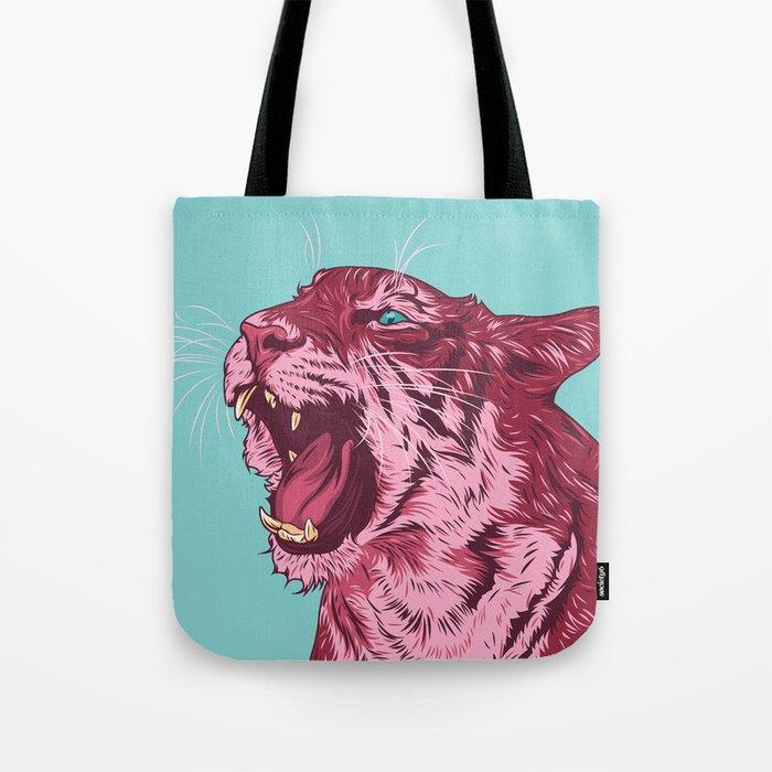 Magenta tiger Tote Bag