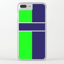 Team Colors...... 6 Lime green /navy Clear iPhone Case