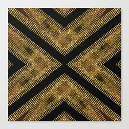 Black Gold | Tribal Geometric Canvas Print