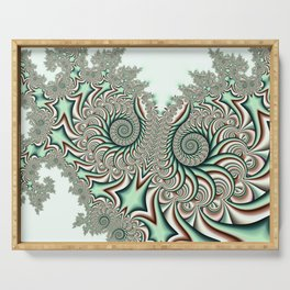 Owl Fractal Chocolate Mint Serving Tray