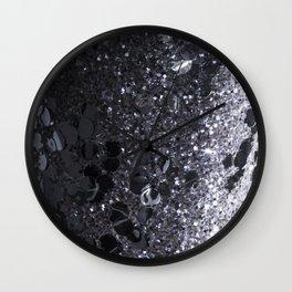 Black and Gray Glitter Bomb Wall Clock