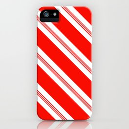 Candy Cane Stripes Holiday Pattern iPhone Case