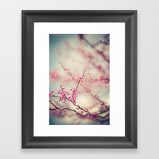 a pink day Framed Art Print
