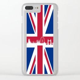 British-Flag Clear iPhone Case