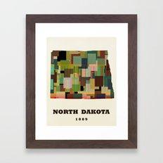 North Dakota state map modern Framed Art Print
