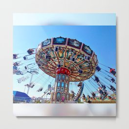 Round and Round and... Metal Print