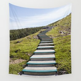 stairs up the hillside Wall Tapestry