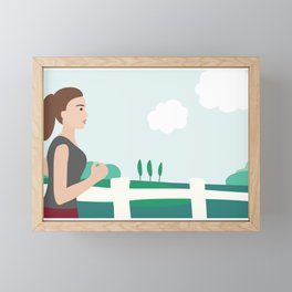 Fresh Air Runner Framed Mini Art Print