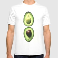 Avocado Mens Fitted Tee X-LARGE White