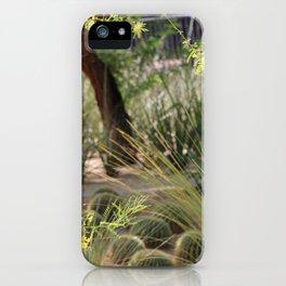 Sunnyland Gardens Scene Palo Brea in Foreground iPhone Case