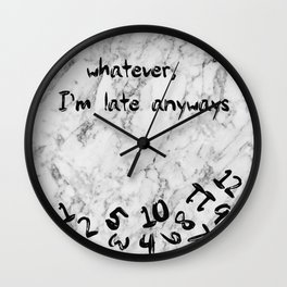 apple logo marble - whatever , I'm late anyways clock Wall Clock