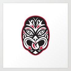 maori tiki moko tattoo mask Art Print