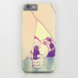 Girl With Gun 2 iPhone Case