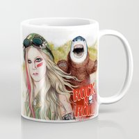 rock n roll Mugs featuring ROCK N ROLL by ●•VINCE•●