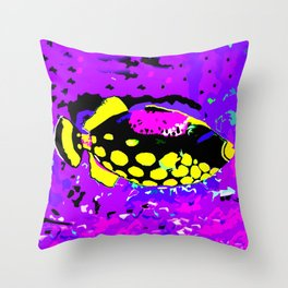 Clown Trigger Fish 2 Throw Pillow