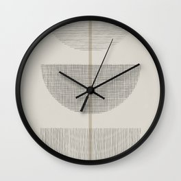 Geometric Composition III Wall Clock