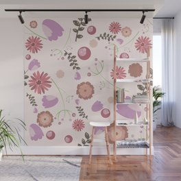 Flowers and Berries Wall Mural