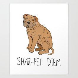 Shar-pei Diem Art Print