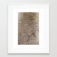 ferret Framed Art Prints featuring Ferret Texture by Diego Tirigall