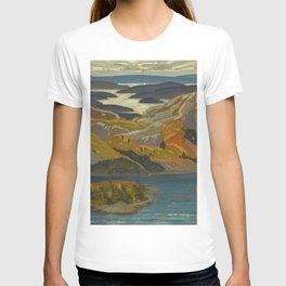 Canadian Landscape Oil Painting Franklin Carmichael Art Nouveau Post-Impressionism Grace Lake 1931 T-shirt