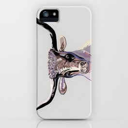 Longhorn in Denim Colors iPhone Case