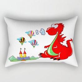 Dragon The Hot Air Balloon Helper Rectangular Pillow