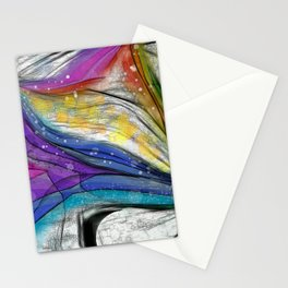 POPCORN ON MARS Abstract Stationery Cards