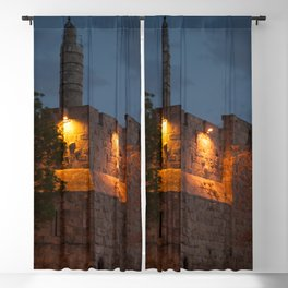 Wall of the Old Town Jerusalem at Night Blackout Curtain
