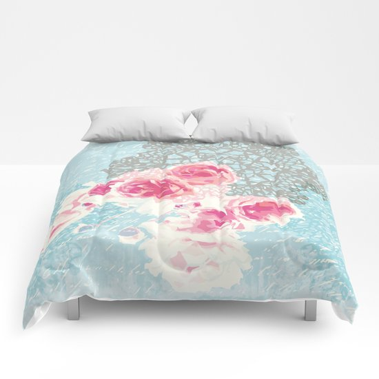 Roses and lace Comforters