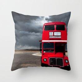 Double Decker & Storm Throw Pillow